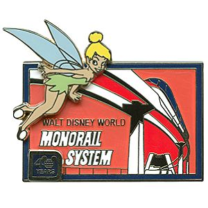 40th Anniversary Walt Disney World Tinker Bell and Monorail Pin