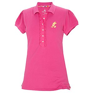 Pink Pique Mickey Mouse Polo Shirt for Women