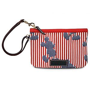 Red and White Striped Mickey Mouse Wristlet by Dooney & Bourke