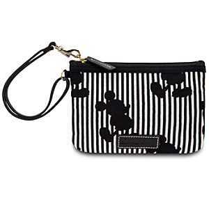 Black and White Striped Mickey Mouse Wristlet by Dooney & Bourke