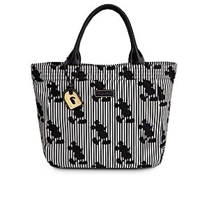 Black and White Striped Mickey Mouse Tote Bag by Dooney & Bourke