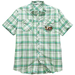 Green Woven Surf Tours Walt Disney World Shirt for Men
