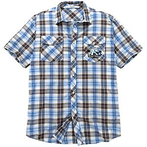 Blue Woven Surf Tours Walt Disney World Shirt for Men