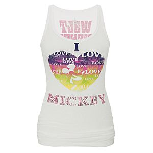 Rhinestone I Heart Mickey Mouse Tank for Women