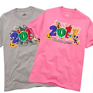 2011 Embossed Foil Walt Disney World Resort Tee for Adults