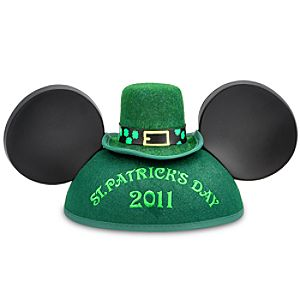 St. Patricks Day 2011 Mickey Mouse Ear Hat for Adults