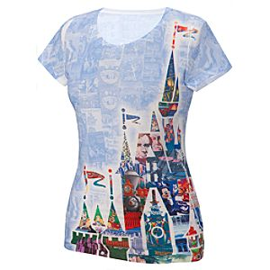 40th Anniversary Magic Kingdom Posters Tee for Women