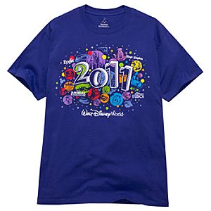 2011 Four Parks Walt Disney World Resort Tee for Adults