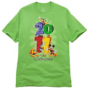 2011 Stacked Walt Disney World Resort Tee for Adults