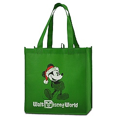 Reusable Walt Disney World Resort Santa Mickey Tote