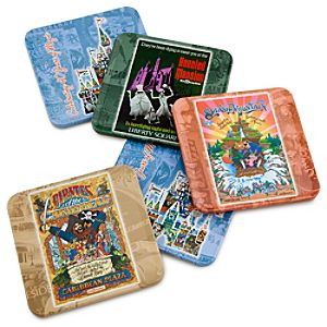 Magic Kingdom 40th Anniversary Tin Box 5-Piece Coaster Set