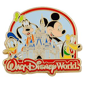 Walt Disney World Cinderella Castle Mickey and Friends Pin