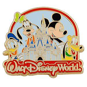 Walt Disney World Cinderella Castle Mickey and Friends Pin