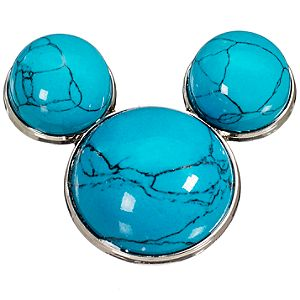 Blue Turquoise Mickey Mouse Pin
