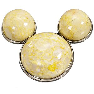 Cream Calcite Mickey Mouse Pin