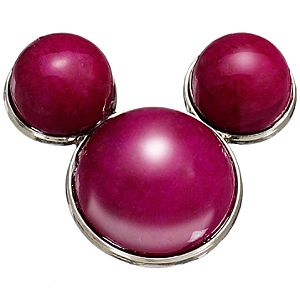 Fuchsia Calcite Mickey Mouse Pin