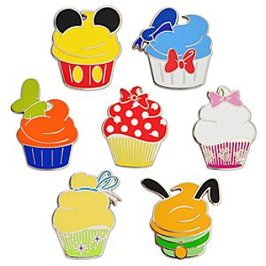 Disney Character Cupcake Pin Set -- 7-Pc.