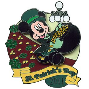 2011 St. Patricks Day Leprechaun Mickey Mouse Pin