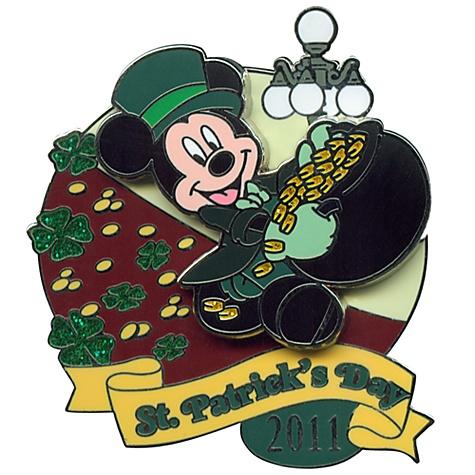 2011 St. Patrick's Day Leprechaun Mickey Mouse Pin