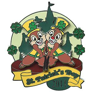 2011 St. Patricks Day Chip an Dale Pin
