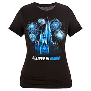 Glitter Orlando Magic Cinderella Castle Tee for Women