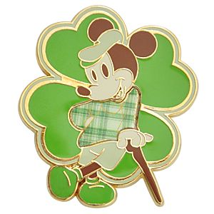 4-Leaf Clover Mickey Mouse Pin