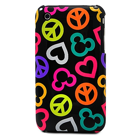 Peace Love Mickey Mouse iPhone 3G Case