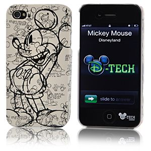Sketch Art Mickey Mouse iPhone 4 Case
