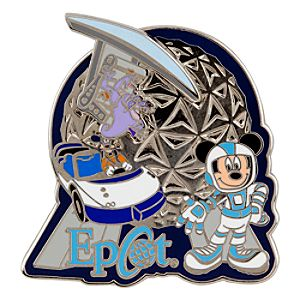 Epcot Attractions Mickey Mouse and Friends Pin