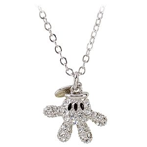 Swarovski Crystal Glove Mickey Mouse Necklace by Arribas