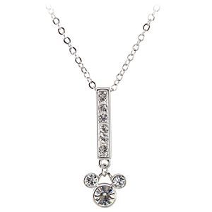 Swarovski Crystal Bar Mickey Mouse Necklace by Arribas