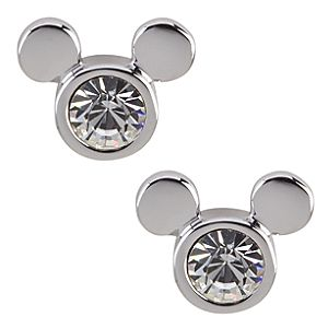 Swarovski Crystal Icon Mickey Mouse Earrings by Arribas