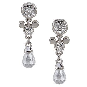 Swarovski Crystal Drop Mickey Mouse Earrings by Arribas
