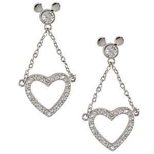Dangling Heart Mickey Mouse Earrings by Arribas