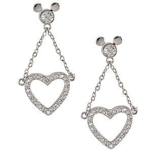 Dangling Heart Mickey Mouse Earrings by Arribas