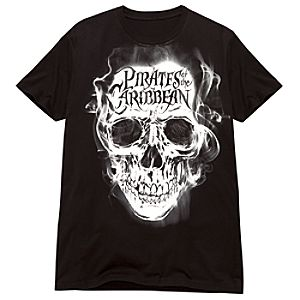 Ghost Skull Pirates of the Caribbean Tee for Adults
