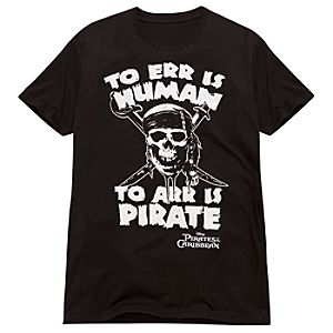 To Err Is Human . . . Pirates of the Caribbean Tee for Adults