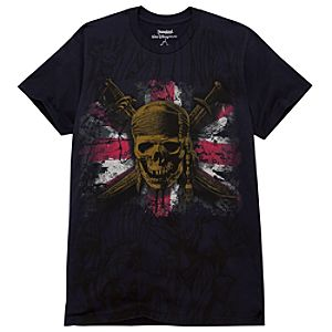 Union Jack Skull Pirates of the Caribbean Tee for Adults