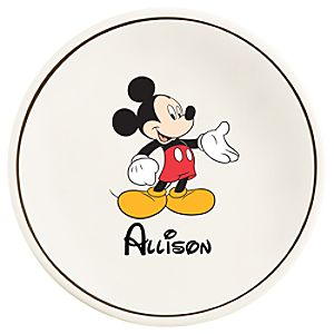 Personalized Mickey Mouse Plate -- 11