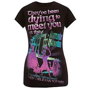 Haunted Mansion Foil Tee for Women