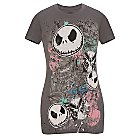 Products>Clothes>Tees> - Butterfly Nightmare Before Christmas Tee for Women: Sizes