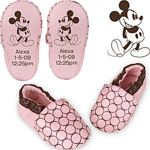 Personalized Mickey Mouse Shoes for Infant Girls