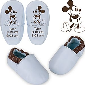 Personalized Mickey Mouse Shoes for Infant Boys