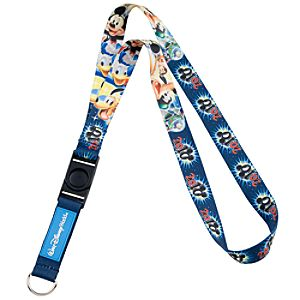 2010 Walt Disney World Resort Mickey Mouse and Friends Lanyard