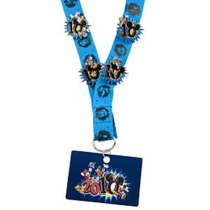 2010 Mickey Mouse and Friends Pin Trading Starter Set - 4 Pins and Lanyard