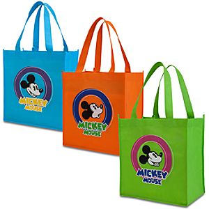 Mickey Mouse Reusable Totes -- 3-Pc.