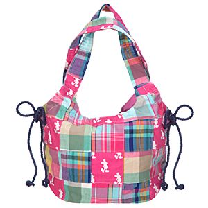 Madras Mickey Mouse Hobo Bag