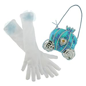 Disney Parks Authentic Cinderella Gloves and Purse Set