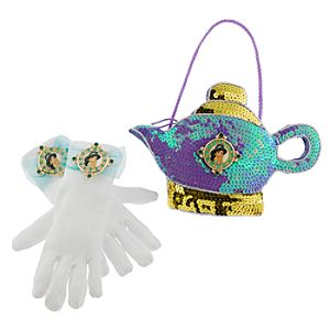 Disney Parks Authentic Princess Jasmine Gloves and Purse Set