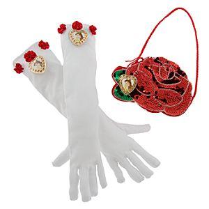 Disney Parks Authentic Belle Gloves and Purse Set